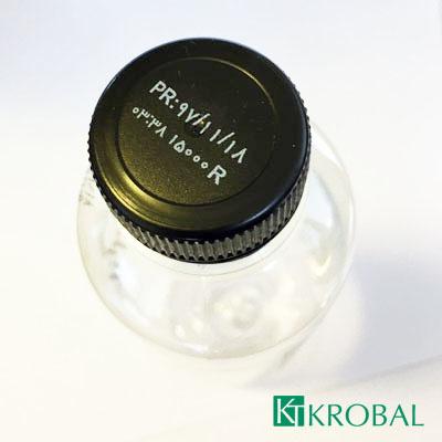 نمونه چاپ جت پرینتر روی درب بطری PET کارتریج جوهر سفید HP